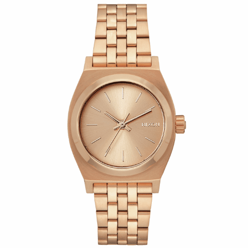 Nixon Medium Time Teller Watch<br>All Rose Gold