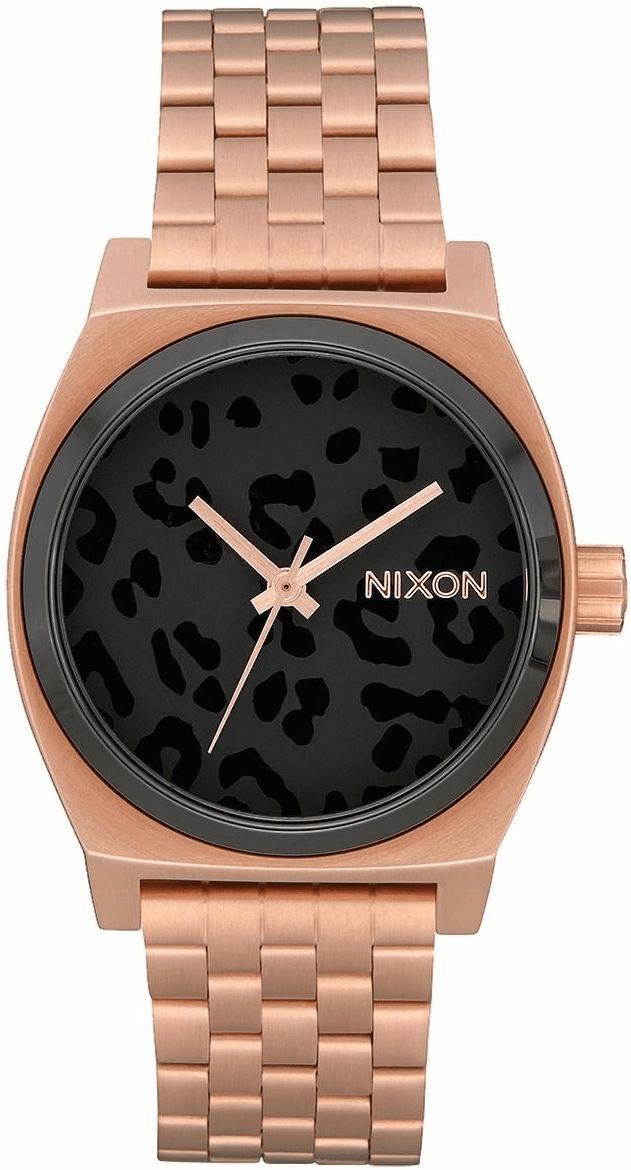 Nixon Medium Time Teller Watch<br>All Rose Gold/Black/Cheetah