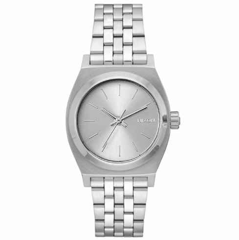 Nixon Medium Time Teller Watch<br>All Silver