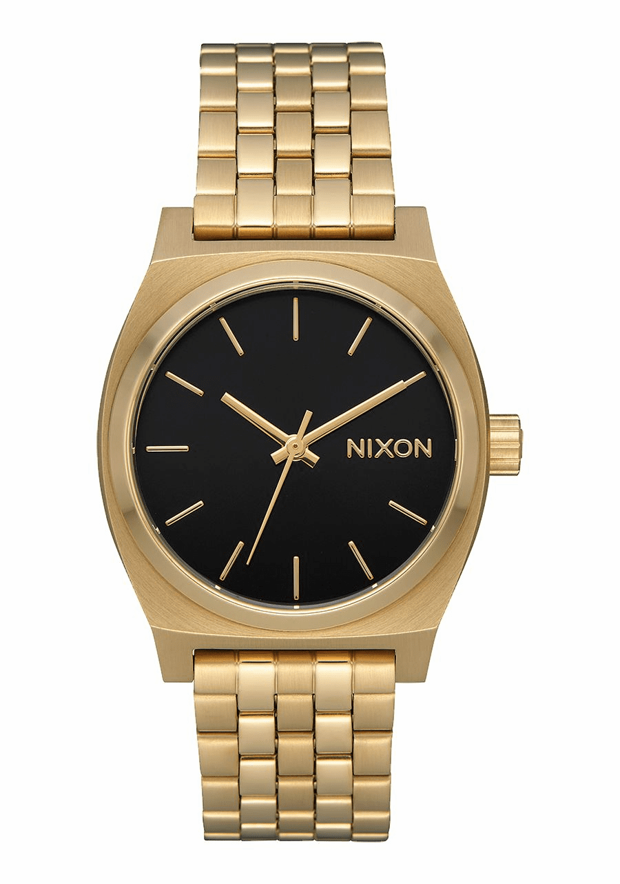 Nixon Medium Time Teller Watch<br>Light Gold/Black Sunray