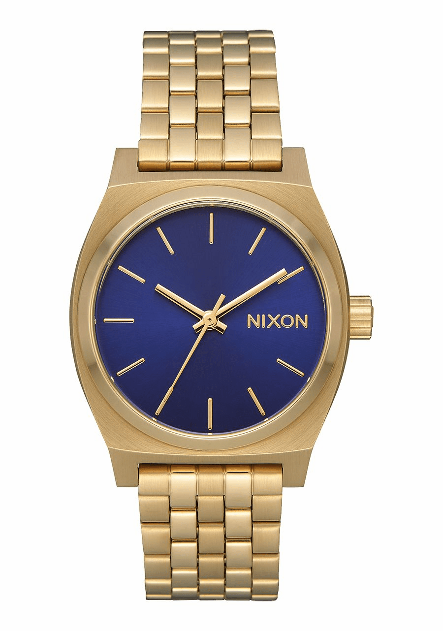 Nixon Medium Time Teller Watch<br>Light Gold/Indigo Sunray