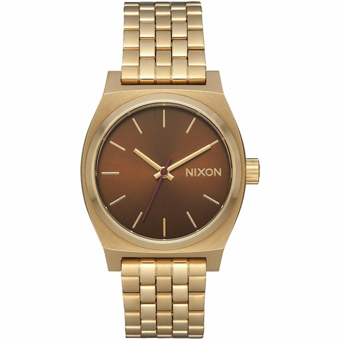 Nixon Medium Time Teller Watch<br>Light Gold/Manuka
