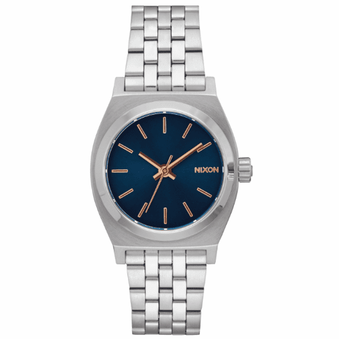 Nixon Medium Time Teller Watch<br>Navy/Rose Gold