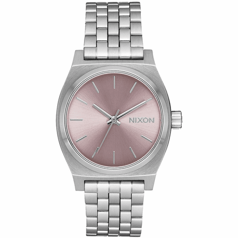 Nixon Medium Time Teller Watch<br>Silver/Pale Lavender