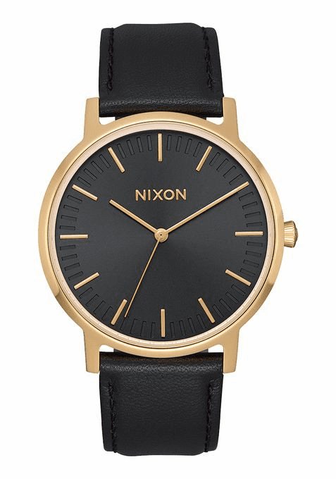 Nixon Porter 35 Leather Watch