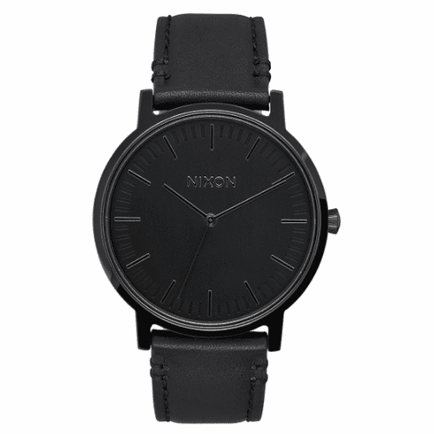 Nixon Porter Leather Watch<br>All Black