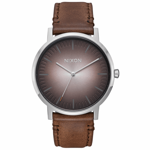 (SALE!!!) Nixon Porter Leather Watch<br>Ombre/Taupe