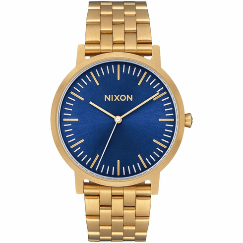 Nixon Porter Watch<br>All Gold/Blue Sunray