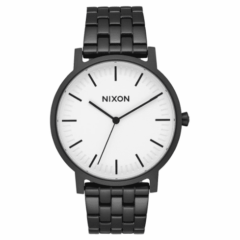 Nixon Porter Watch<br>Matte Black/White