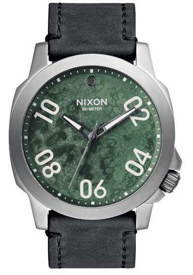 Nixon Ranger 45 Leather Watch<br>Men's