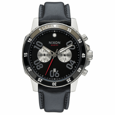 Nixon Ranger Chrono Leather Watch<br>Black