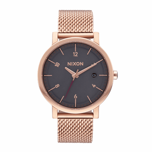 (SALE!!!) Nixon Rollo 38 SS Watch<br>All Rose Gold/Charcoal