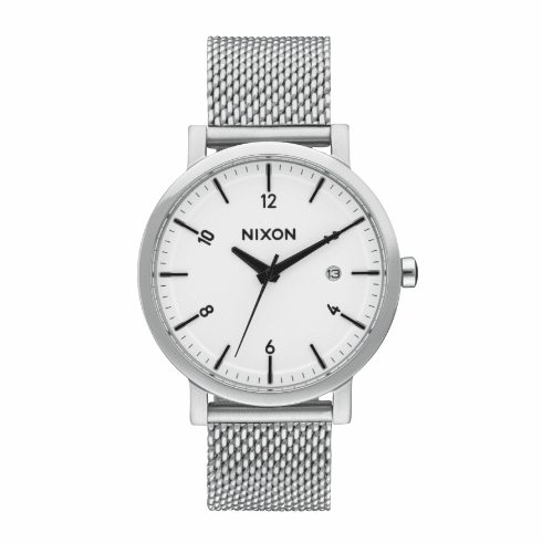 (SALE!!!) Nixon Rollo 38 SS Watch<br>White/Sunray