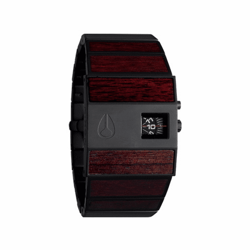 Nixon Rotolog Watch<br>Dark Wood/Black</font><br>