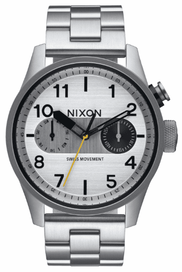 Nixon Safari Deluxe Watch<br>Silver