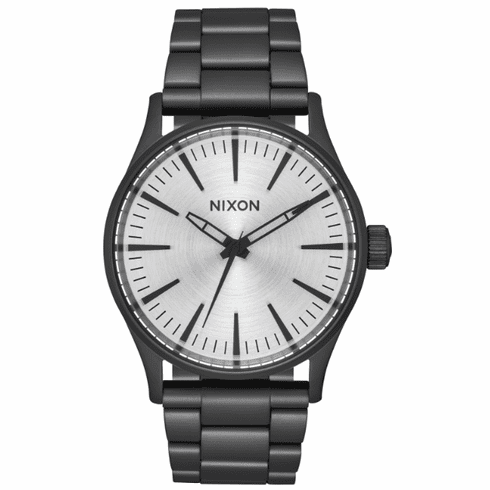 Nixon Sentry 38 SS Watch<br>All Black/Silver