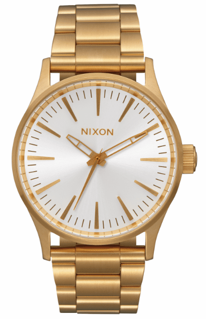 (Sale!!!) Nixon Sentry 38 SS Watch<br>All Gold/White Sunray