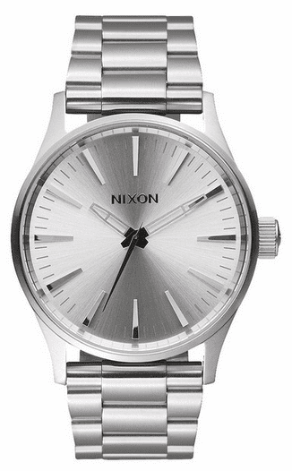 Nixon Sentry 38 SS Watch<br>All Silver