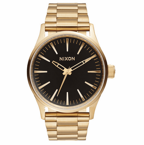 Nixon Sentry 38 SS Watch<br>Gold/Black Sunray