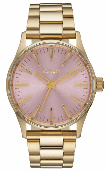 (Sale!!!) Nixon Sentry 38 SS Watch<br>Light Gold/Pink