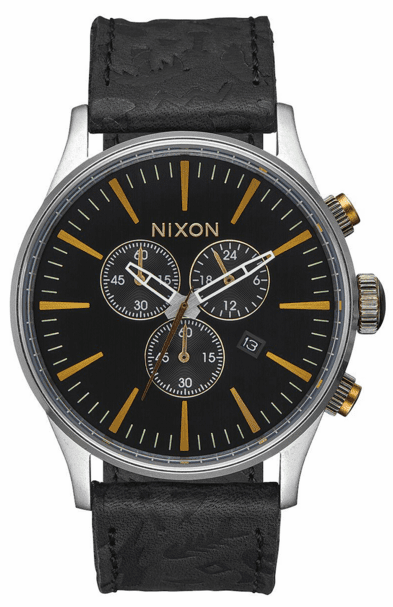 Nixon Sentry Chrono Leather Watch<br>Mens