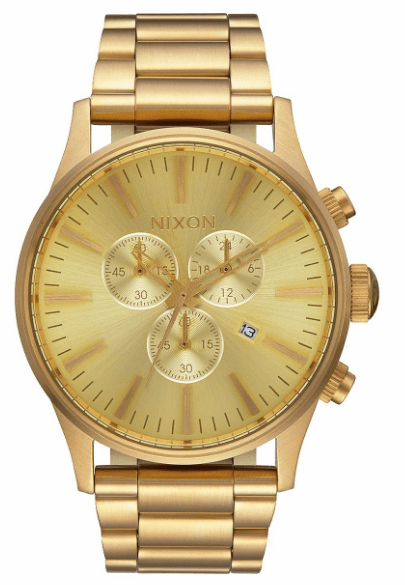 Nixon Sentry Chrono Watch<br>All Gold