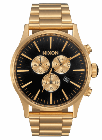 Nixon Sentry Chrono Watch<br>All Gold/Black