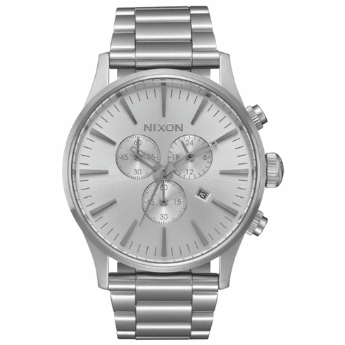 Nixon Sentry Chrono Watch<br>All Silver