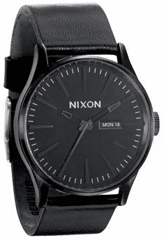 Nixon Sentry Leather Watch<br>All Black