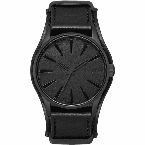Nixon Sentry Leather Watch<br>METALLICA X NIXON<br>Black Album