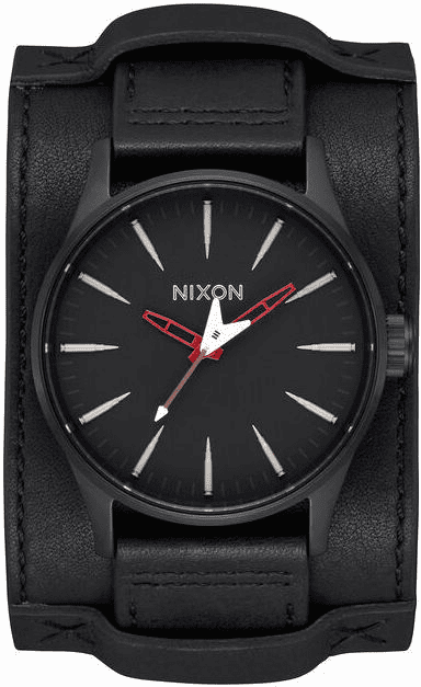 Nixon Sentry Leather Watch<br>METALLICA X NIXON<br>Seek & Destroy