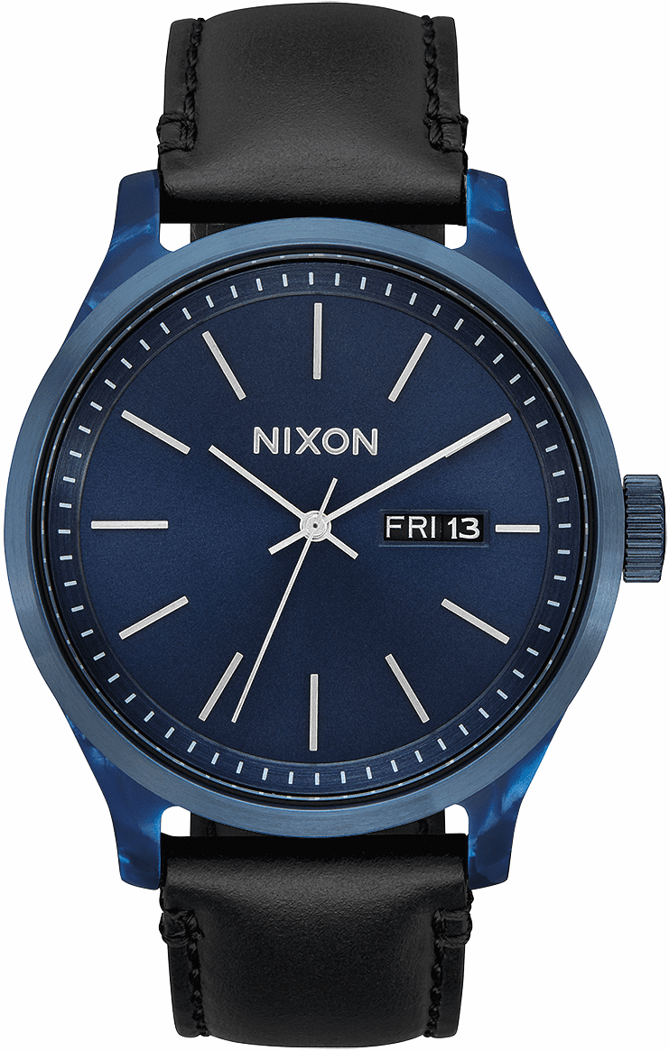 Nixon Sentry Luxe Watch<br>Blue Acetate/Black