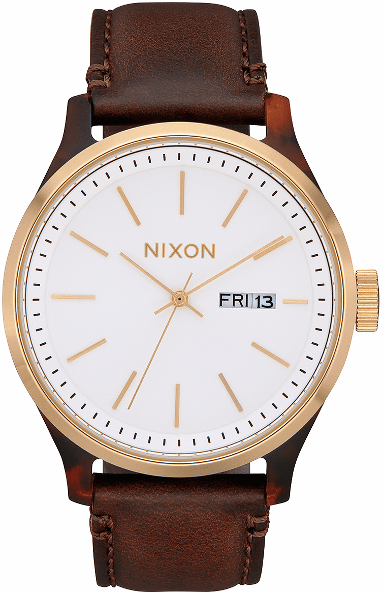 Nixon Sentry Luxe Watch<br>Tortoise/White Sunray/Brown
