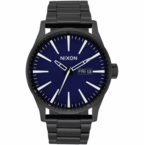 Nixon Sentry SS Watch<br>All Black/Dark Blue