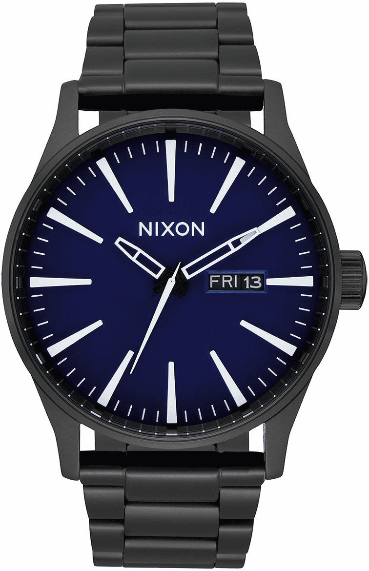 (SALE!!!) Nixon Sentry SS Watch<br>All Black/Dark Blue