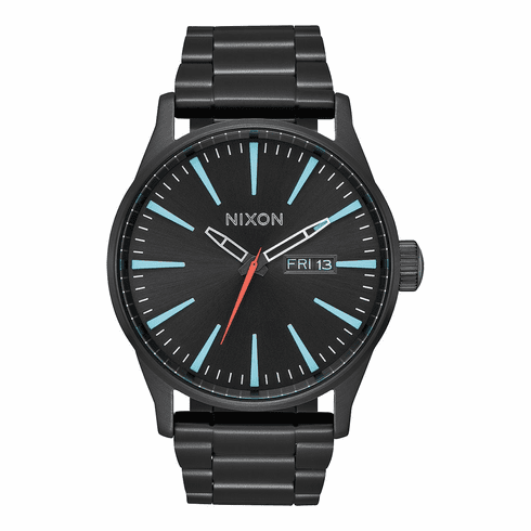 Nixon Sentry SS Watch<br>All Black/Silver/Lum