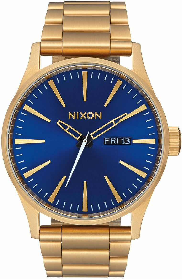 Nixon Sentry SS Watch<br>All Gold/Blue Sunray