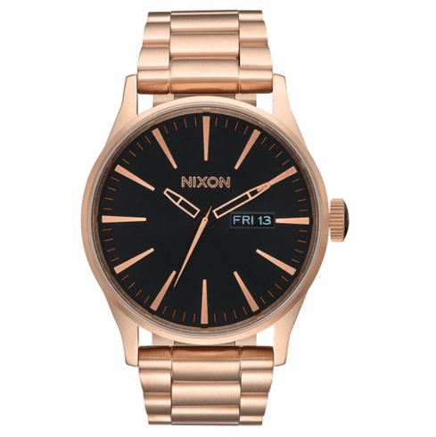 Nixon Sentry SS Watch<br>All Rose Gold/Black