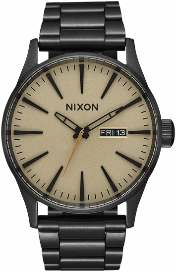 Nixon Sentry SS Watch<br>Black/Khaki