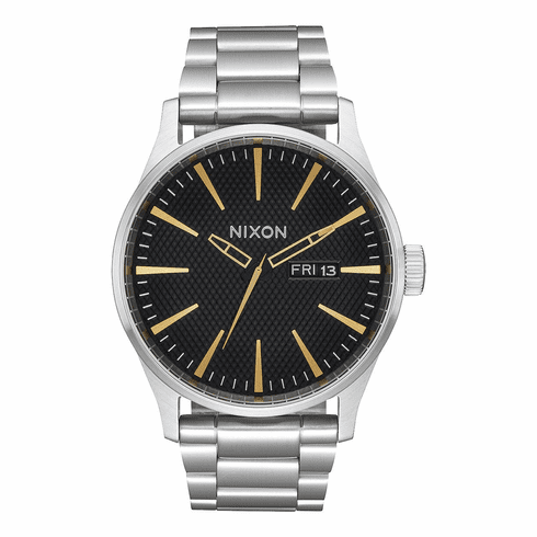 Nixon Sentry SS Watch<br>Black Stamped/Gold