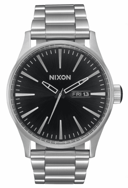 Nixon Sentry SS Watch<br>Black Sunray