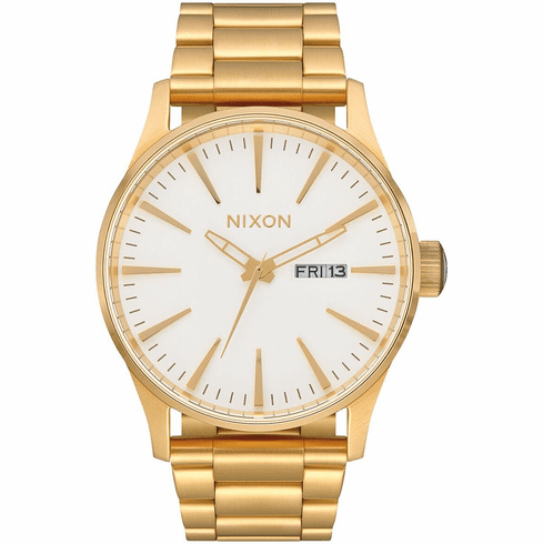 Nixon Sentry SS Watch<br>Gold/White