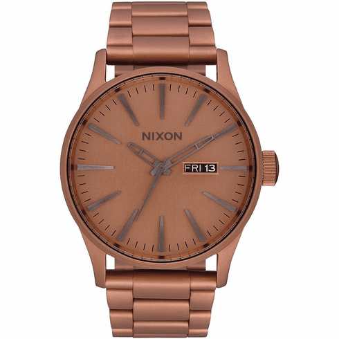 Nixon Sentry SS Watch<br>Matte Copper/Gunmetal