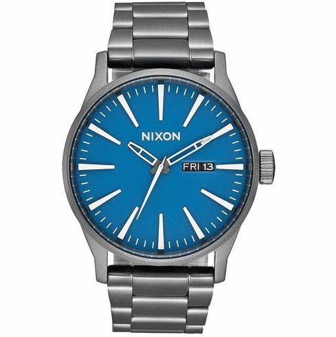 Nixon Sentry SS Watch<br>Navy/Gunmetal