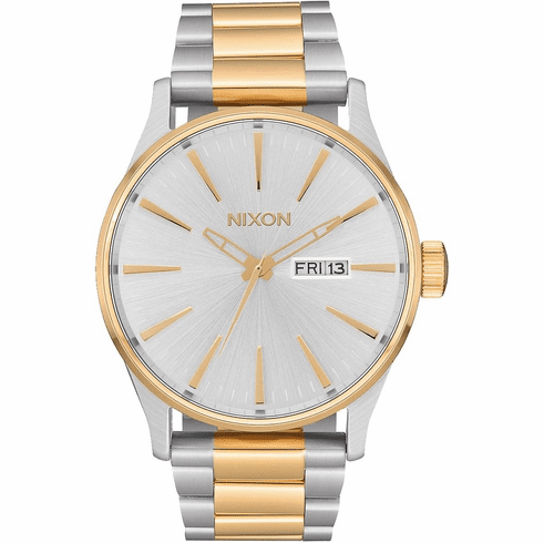Nixon Sentry SS Watch<br>Silver/Gold