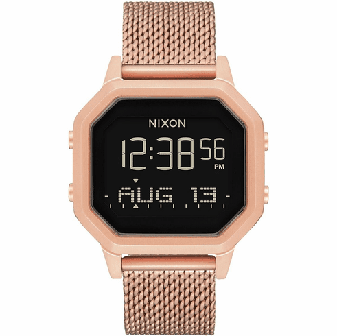 Nixon Siren Milanese Watch<br>All Rose Gold