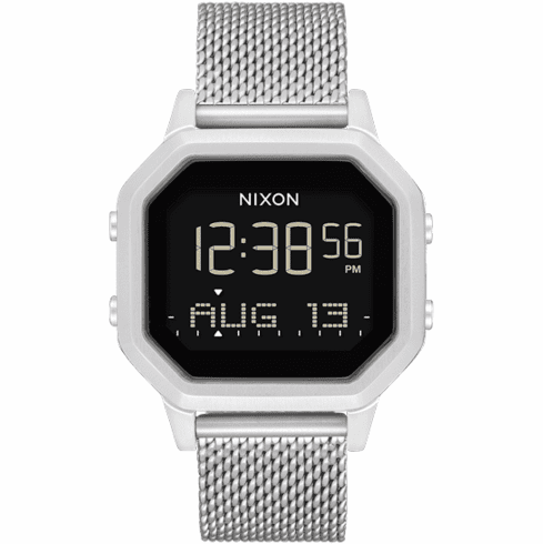 Nixon Siren Milanese Watch<br>All Silver