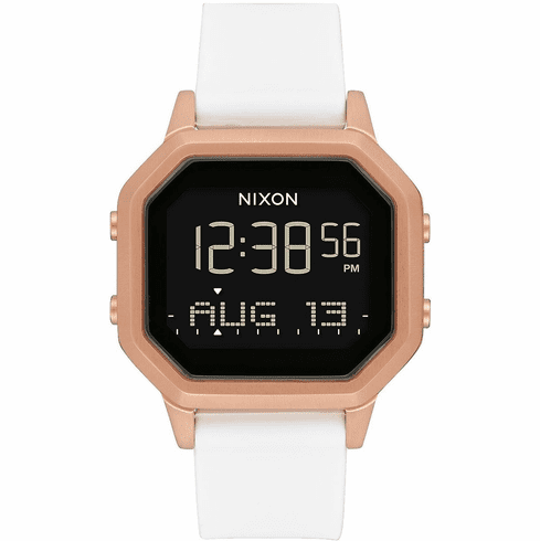 Nixon Siren SS Watch<br>Rose Gold/White