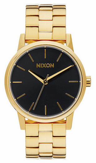 Nixon Small Kensington Watch<br>All Gold/Black Sunray