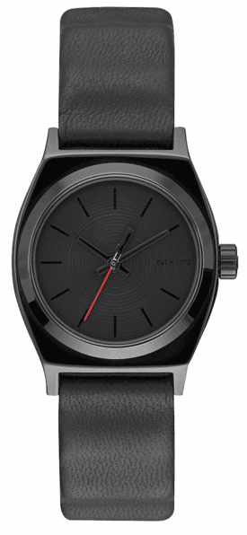 (Sale!!!) Nixon Small Time Teller Leather Watch<br>STAR WARS x NIXON<br>Vader Black